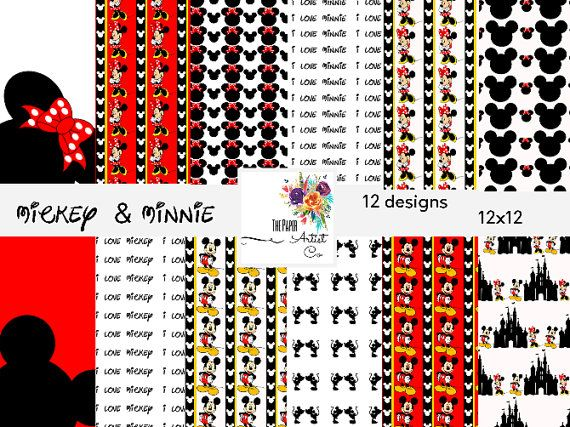 digital scrapbooking mickey mouse minnie mouse