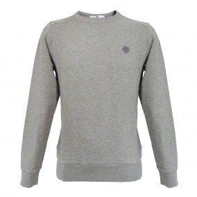 STONE ISLAND Grey Marl Crew Neck Sweatshirt
