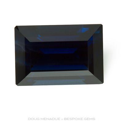 Blue Sapphire, Baguette, Rubyvale, Central Queensland, Australia, 3.90 Carats, 10.4X7.2X5.03mm, #12112-13, A beautiful natural Blue Sapphire from the Australian sapphire gemfields. Doug Menadue :: Bespoke Gems :: WWW.BESPOKE-GEMS.COM - Finest Precision Custom Gemcutting Based In Sydney Australia