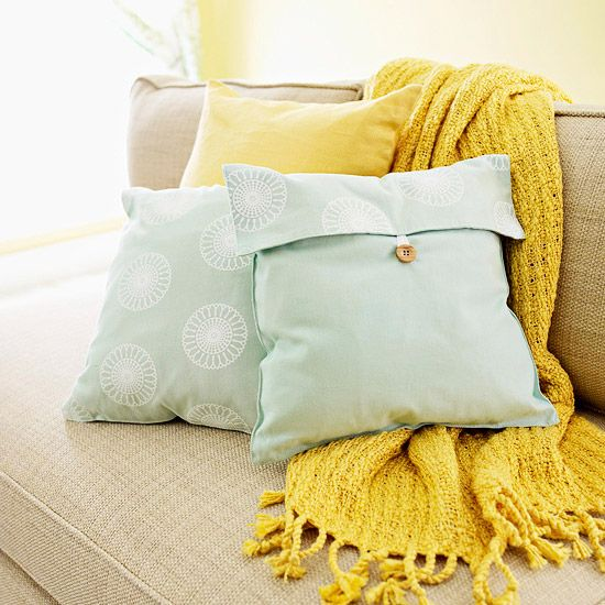 Easy Envelope PillowPillows Covers, Colors Combos, Places Mats, Cottages Marketing, Accent Pillows, Colors Schemes, Pillow Covers, Decor Pillows, Diy Pillows
