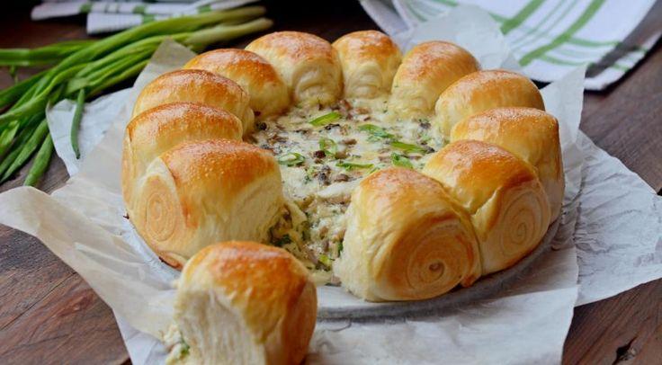Булочки-малышки с сырно-грибной начинкой