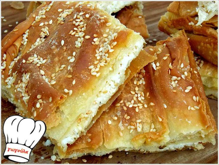 ΓΡΗΓΟΡΗ ΤΡΑΓΑΝΗ ΤΥΡΟΠΙΤΑ ΜΕ ΔΥΟΣΜΟ ΚΑΙ ΔΥΟ ΤΥΡΙΑ!!!   Νόστιμες Συνταγές της Γωγώς