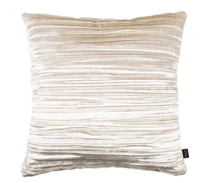Zinc - Penthouse Cushion - MoonbeamA luxurious design with a chic attitude, the velvet Penthouse cushion – which comes with a sumptuous feather pad – is all about modern opulence with a side of comfort. #Luxdeco #Boudoir