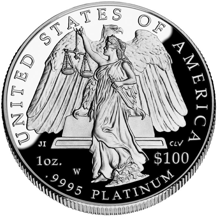 U.S. Coins And Bills With The Highest Face Value American Eagle Platinum Coin (Reverse)
