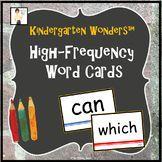 Kindergarten Wonders™️ High-Frequency Word Cards
