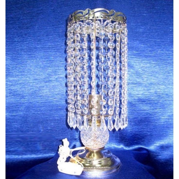 Купить настольную лампу хрустальную Анжелика 2 Карандаш малый в интернет-магазине ЛюксСвет +7 (4922) 60-02-05, низкая цена от производителя из Гусь-Хрустального, фото, отзывы
