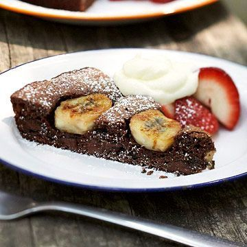 Brownie cu banane dietetic - www.Foodstory.ro