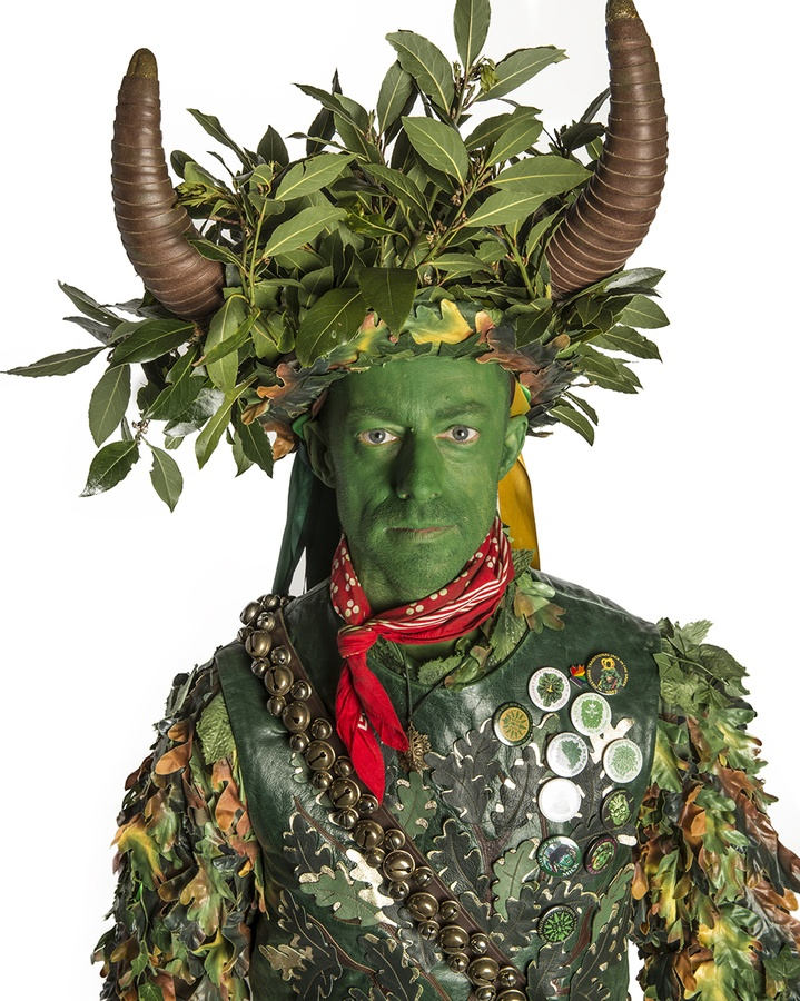 """Jack in the Green Festival, Hastings by Chris Parker. """"Jack in the Green is a participant in the traditional English May Day celebrations. I set up a temporary studio in Hastings to record the variety of costumed characters who attended in 2012."""""""