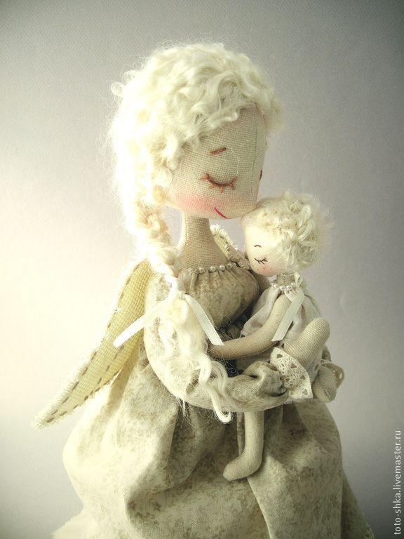 Купить МАМА – Ангел-хранитель - бежевый, ангел-хранитель, мама и малыш, мама ангел