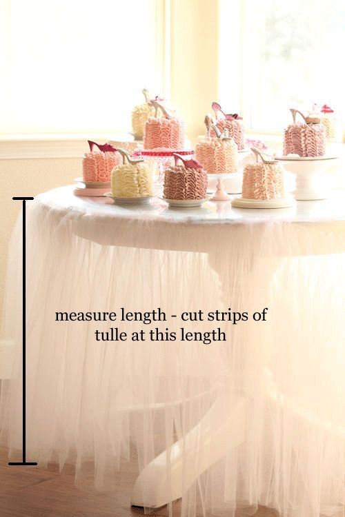 Tutu Tablecloth #tutorial
