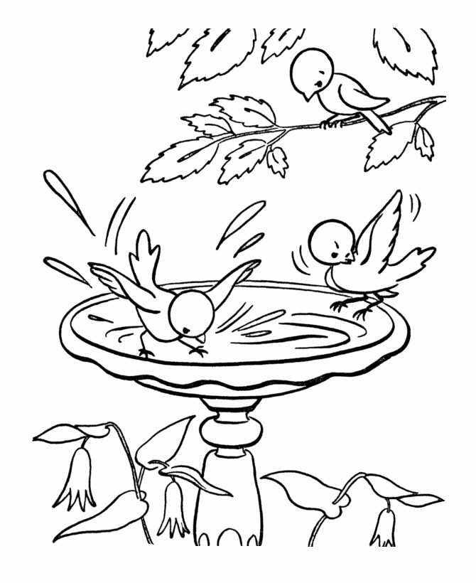 spring scenes coloring page 19 spring coloring sheets bluebonkers - April Coloring Pages Toddlers