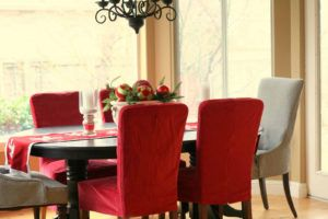 Red Seat Covers For Dining Chairs