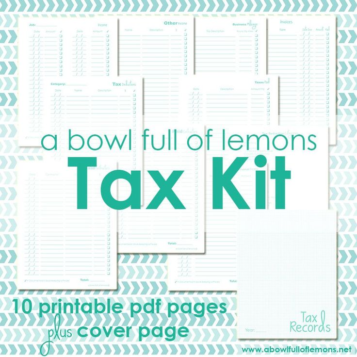 Tax season is upon us and the April 15th deadline will be here sooner than we know it. Get started now with the A Bowl Full of Lemons TAX ORGANIZATION KIT! Tax season will never be the same!!