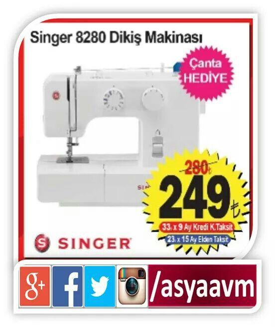 Singer 8280 Dikiş Makinesi+Çantası AYDA 23.00TL ÜSTELİK 15 AY TAKSİTLE! #asyaavm #annelergünü #kampanya
