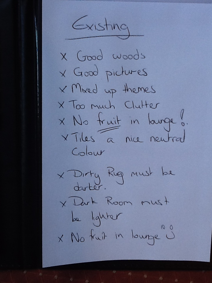 Some notes on the room existing