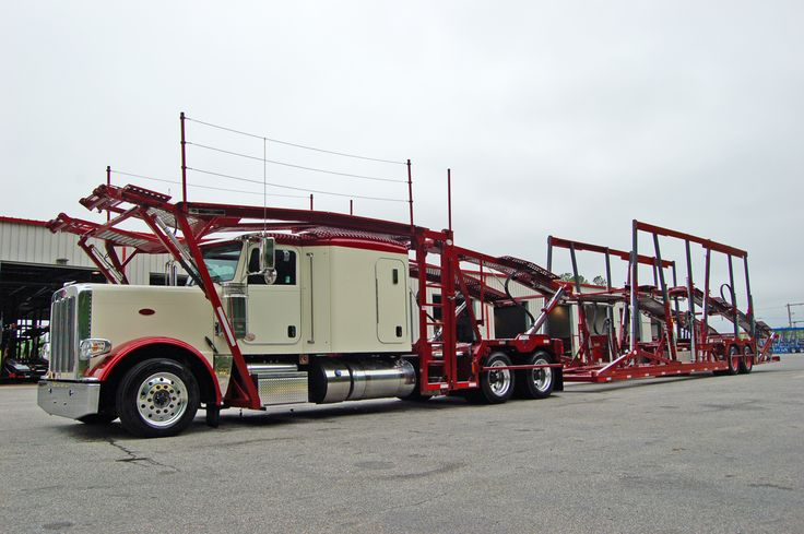 Just A Great Peterbilt Highrail With A Cottrell 3 Car Head Rack