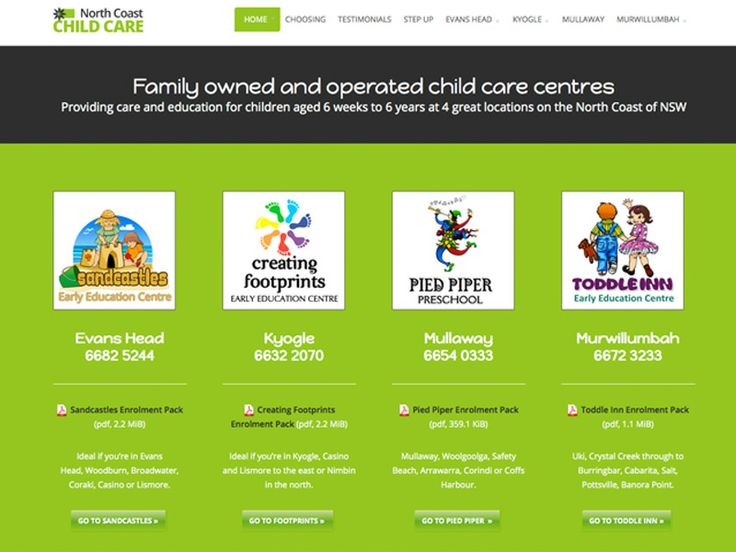 childcarenorthcoast.com.au - new website January 2014