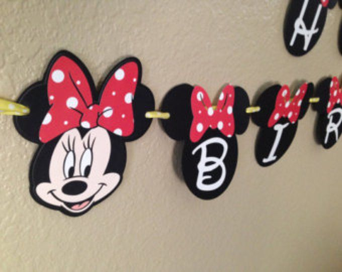 Minnie Mouse Birthday Banner, Minnie Mouse Party, Minnie Mouse Birthday, Minnie Mouse Banner, Minnie Mouse Garland, Minnie Mouse