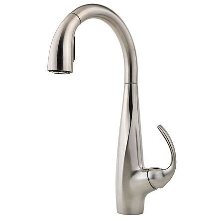 Stainless Steel Avanti 1-Handle, Pull-Down Kitchen Faucet - LF-529-7ANS - 1