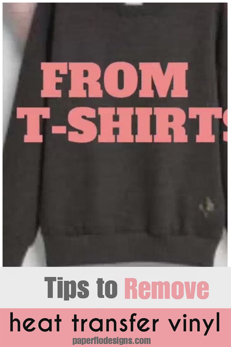 How to remove print from tshirts paper flo designs