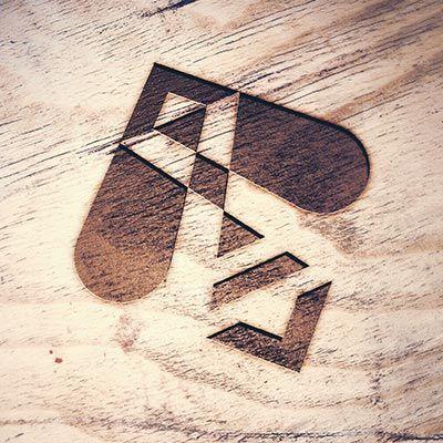 Logo abeille géométrique - Création - Owena Cabannes // Graphiste
