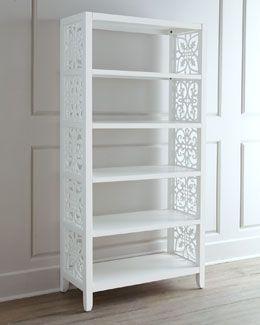 """H6S19 """"White Spur"""" Bookcase Horchow.com"""
