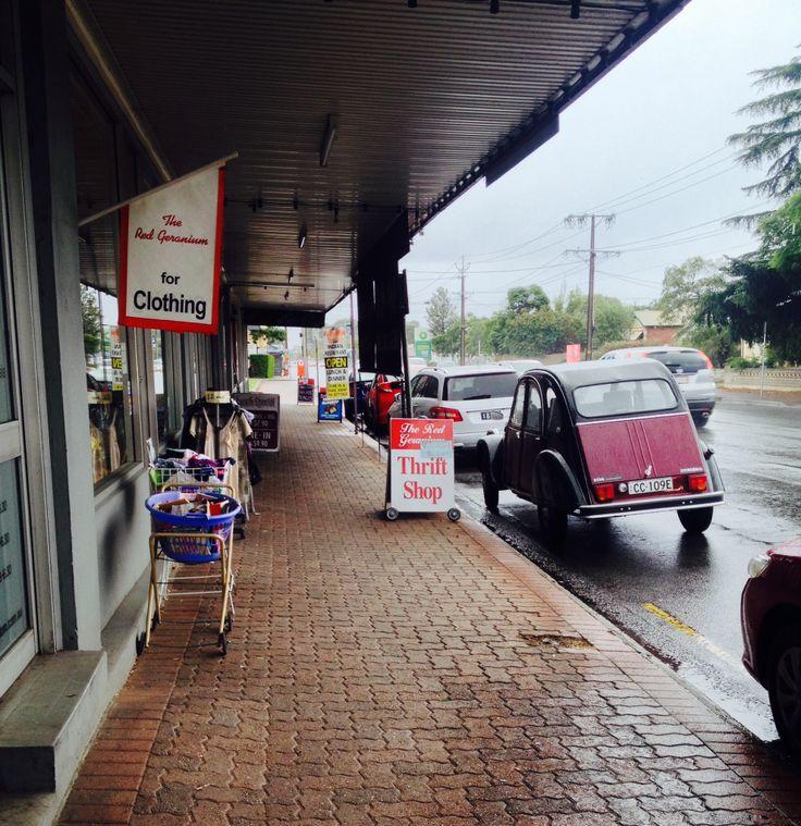 Red Geranium Op Shop • 486 Goodwood Road Adelaide South Australia • a great place to shop • Citroen Societe SA event Sunday 4 May 2014 • inaugural Op Shop Party Tour • Riawati Djuwita Charleston Citroen 2CV6