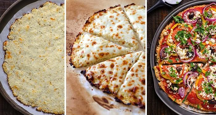 Květákové FITNESS těsto na pizzu bez mouky
