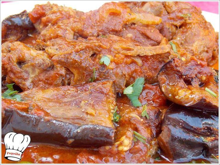 ΑΡΝΑΚΙ ΚΟΚΚΙΝΙΣΤΟ ΜΕ ΜΕΛΙΤΖΑΝΕΣ!!! | Νόστιμες Συνταγές της Γωγώς