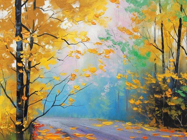 Осенний пейзаж, картина Грэма Геркена