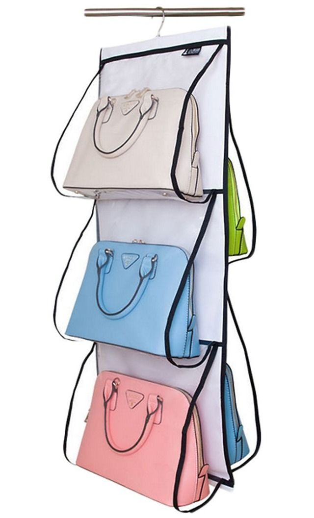 Misslo Hanging Closet Handbag Organizer Purse Holder (2 Colors) $14.99 (amazon.com)