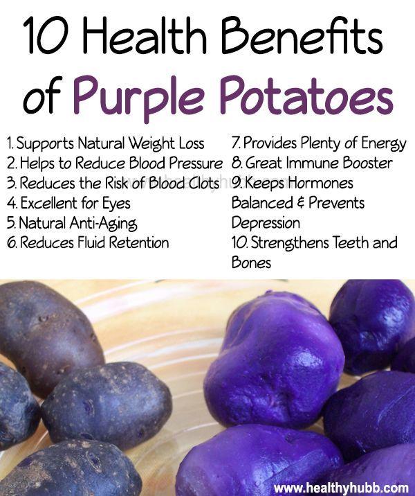 10 Health Benefits of Purple Potatoes! #health #wellness #organic
