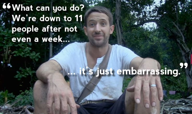 Context: Following Andy's departure, Will suggests The Island is more about avoiding embarrassment for him than actually surviving.