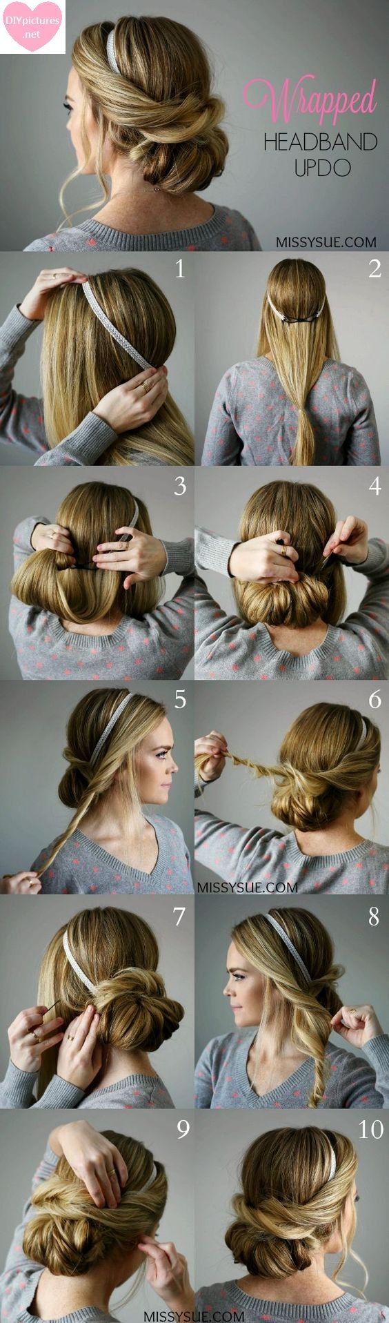 Wrapped Headband Updo Our weekends are times to rest and unwind and the exact opposite thing we need to do is go through ages objecting with our hair. Sadly, here and there you have social commitme…