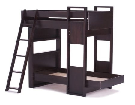 The Uffizi bunk bed by Argington offers a versatile solution to making the most of your children's room. The Uffizi provides a cantilever design, a semi-enclosed lower bunk, and window-like openings kids will love. The Argington Fuji Toy Box(tm) is the perfect accessory at the foot of the bed to provide additional storage. $2475.00