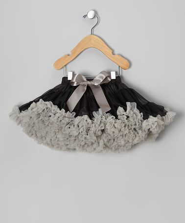 Take a look at this Black & Silver Pettiskirt - Toddler & Girls by Micro Couture on #zulily today!