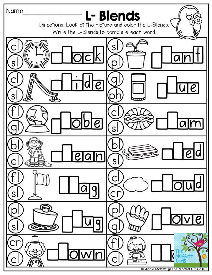 L Blends Worksheets Blends Worksheets Phonics Kindergarten Kindergarten Phonics Worksheets Blends and digraphs worksheets free