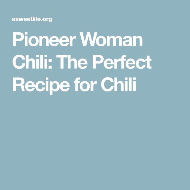 Pioneer Woman Chili: The Perfect Recipe for Chili