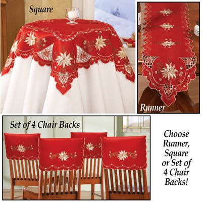 Christmas Embroidered Holiday Linens from Collections Etc.