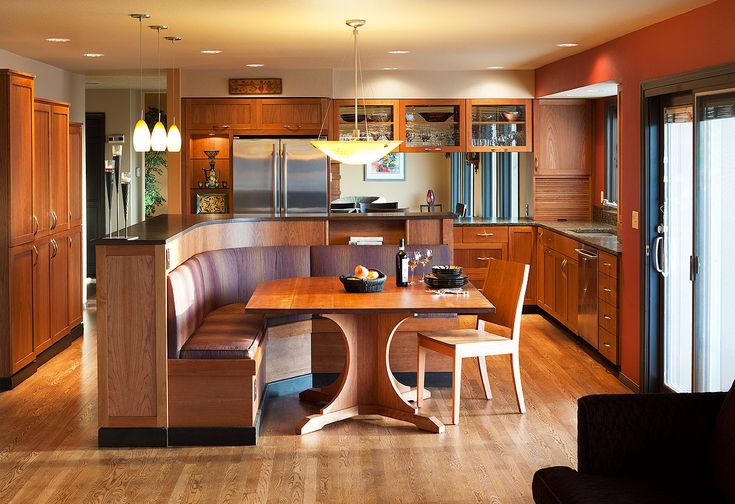 Mid Century Modern Kitchen Cultivate Love This Built In Booth And I Imagine Kids Would As Well Cultivateit