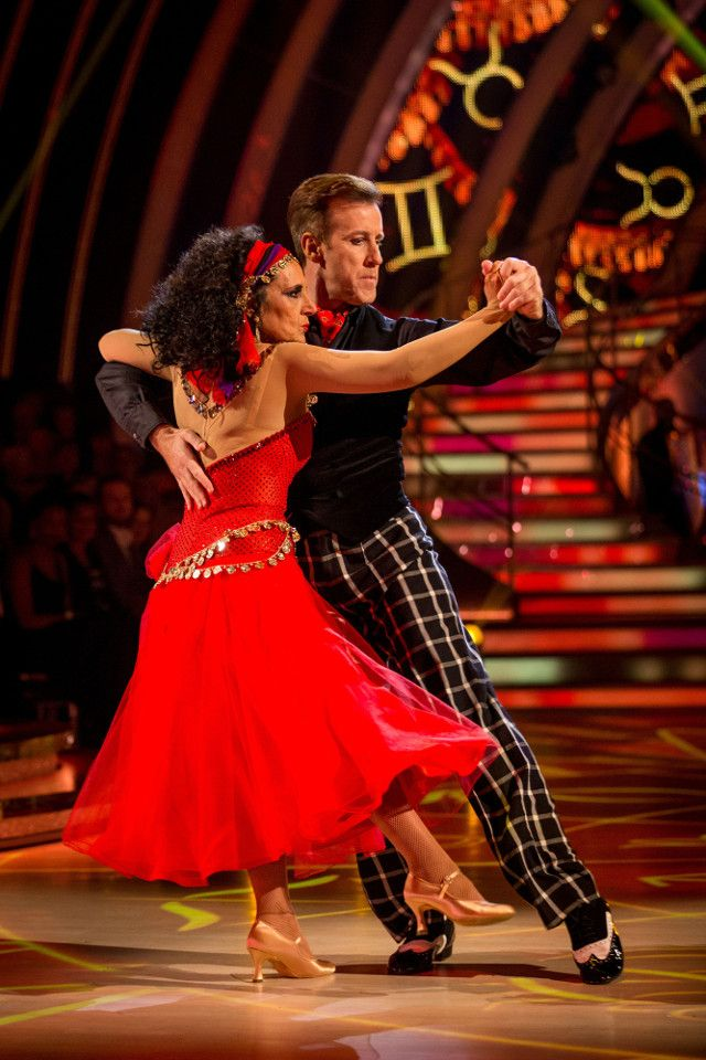 SCD week 5, 2016. Lesley Joseph & Anton du Beke. Tango.  Voted off. Credit: BBC / Guy Levy