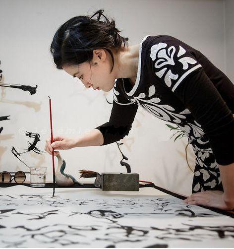 calligrapher Sisyu - shodo- japan calligraphy
