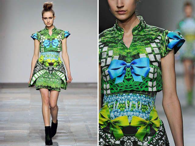 Mary Katrantzou Fall digital print dress (2)