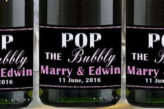 Hey, I found this really awesome Etsy listing at https://www.etsy.com/listing/276358704/custom-mini-champagne-label-engaged