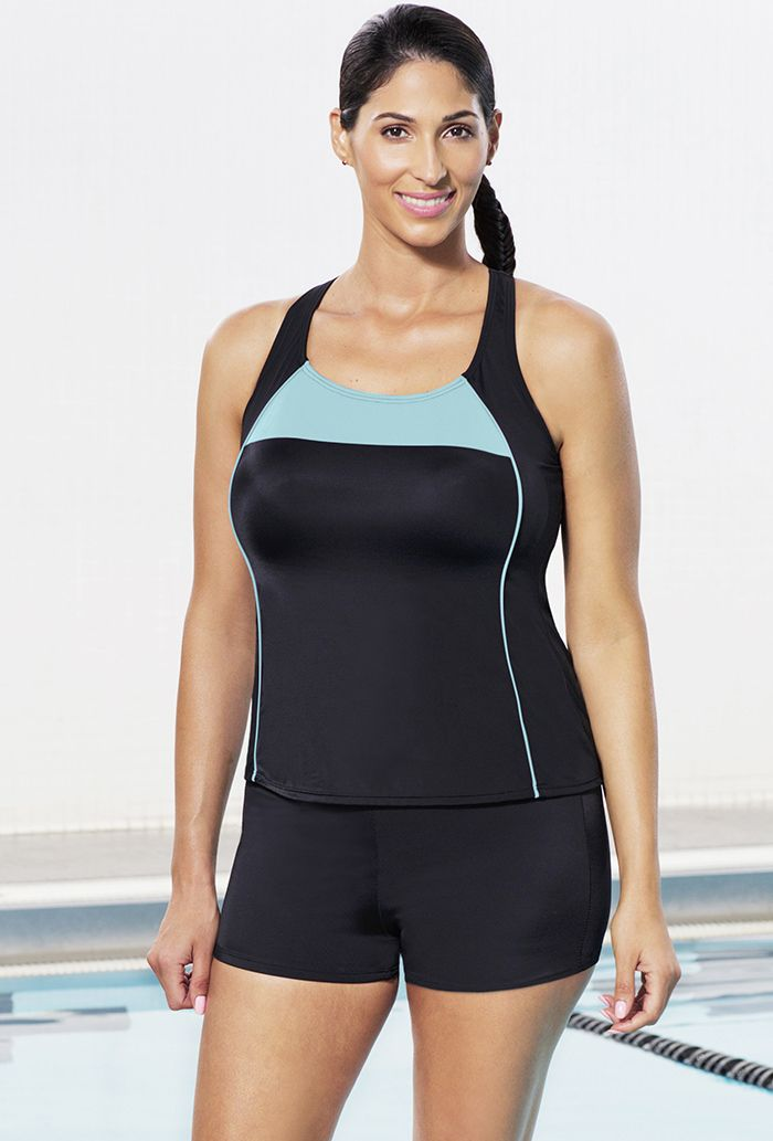 A good plus-sized swimsuit for water aerobics. Aquabelle