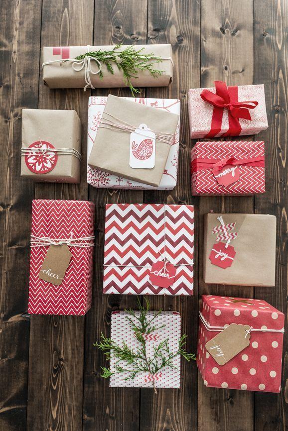 Ideas para envolver regalos de Navidad.  Fuente: Paula Albino