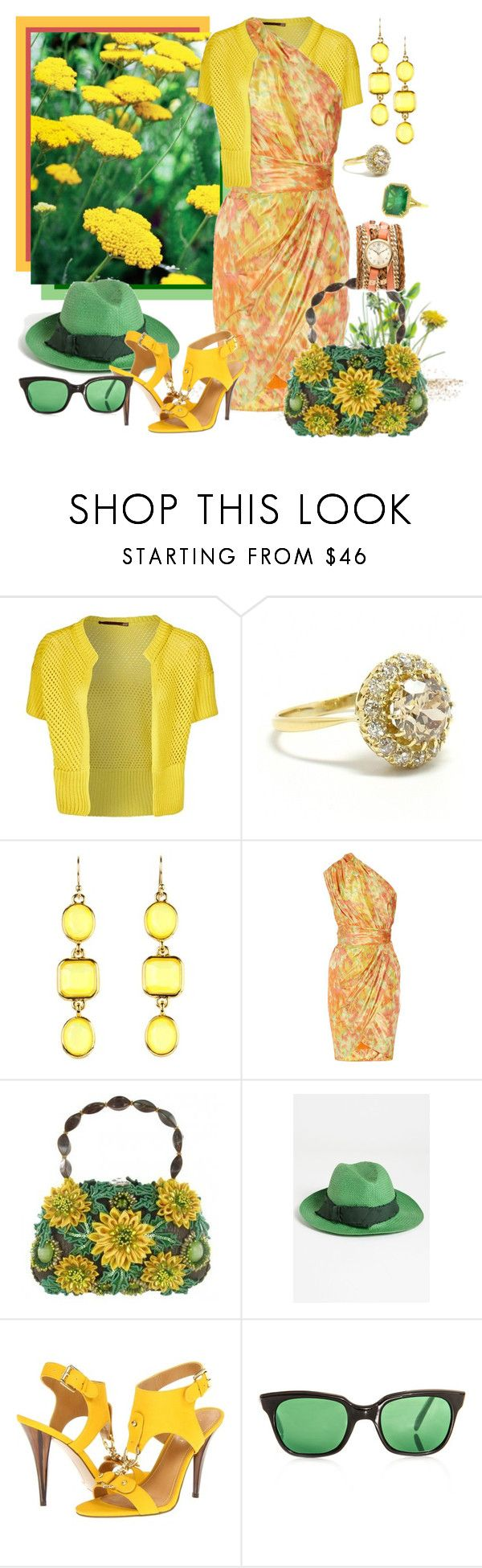 """""""FWF Mary Frances Sunshine Garden Bag"""" by lois-boyce-flack ❤ liked on Polyvore featuring iti, Kate Spade, Lela Rose, Mary Frances Accessories, Tarnish, Nine West, Sheriff&Cherry and Sara Designs"""