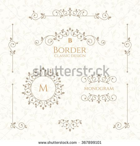 222 best design elements images on pinterest image vector free set of decorative borders monograms and seamless pattern graphic design page classic design elements for wedding invitations buy this stock vector on junglespirit Images