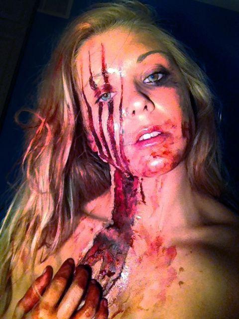 ripped skin halloween makeup tutorial