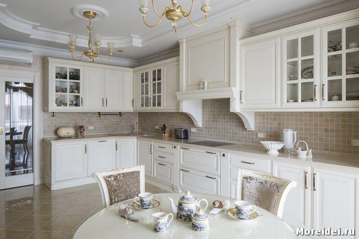 дизайн кухни в светлых тонах фото